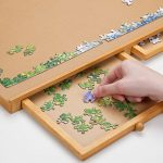 Bits-and-Pieces-Jumbo-Size-Wooden-Puzzle-Plateau-Smooth-Fiberboard-Work-Surface-Four-Sliding-Drawers-Complete-This-Puzzle-Storage-System-0-2
