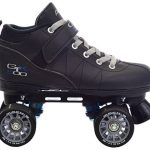 Black-Pacer-Mach-5-GTX500-Quad-Speed-Roller-Skates-w-2-Pair-of-Laces-Gray-Black-0-1