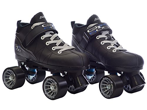 Black-Pacer-Mach-5-GTX500-Quad-Speed-Roller-Skates-w-2-Pair-of-Laces-Gray-Black-0-2