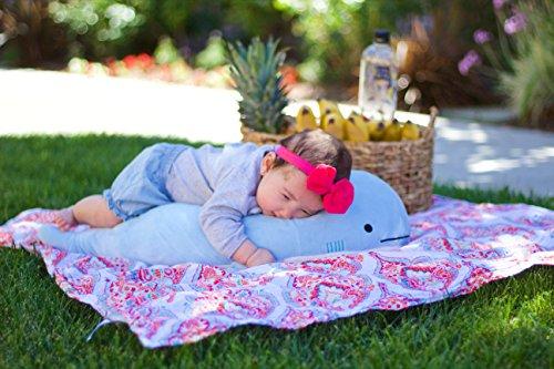 Blow-the-Blue-Beluga-Whale-Plush-Large-Stuffed-Animal-Shark-for-Children-2-Feet-Long-by-Buddy-Plush-0-0