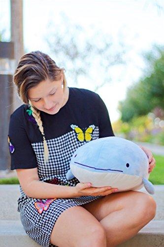 Blow-the-Blue-Beluga-Whale-Plush-Large-Stuffed-Animal-Shark-for-Children-2-Feet-Long-by-Buddy-Plush-0-1