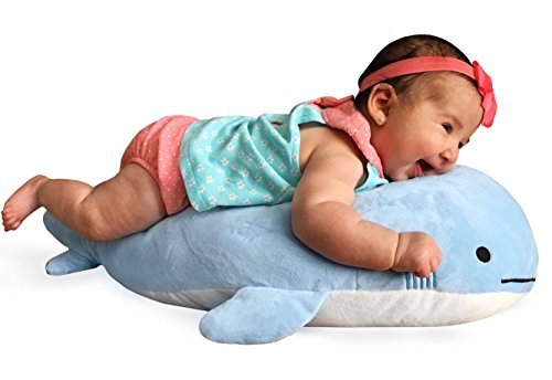 Blow-the-Blue-Beluga-Whale-Plush-Large-Stuffed-Animal-Shark-for-Children-2-Feet-Long-by-Buddy-Plush-0