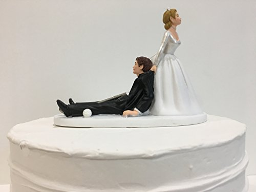 funny golf themed wedding cake toppers and groom golf wedding cake topper golf 14545