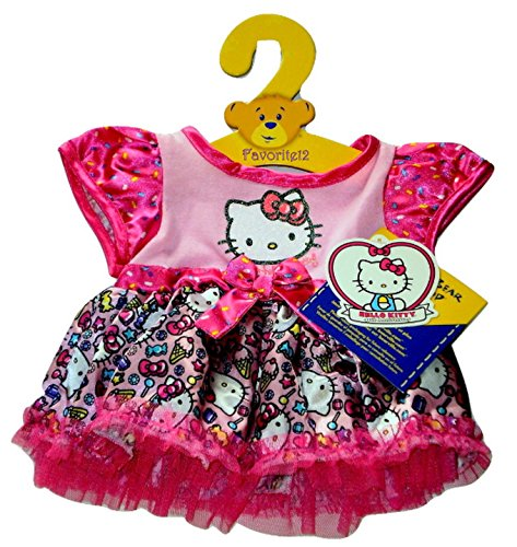 Build-a-Bear-Workshop-Hello-Kitty-40th-Anniversary-Confetti-Sprinkles-Party-Dress-Outfit-0