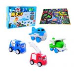 CARLORBO-4-Play-Vehicles-with-Large-Playmat-Set-Die-Cast-Pull-Back-and-Friction-Powered-Toys-with-a-5939in-My-Town-Play-MatBest-Christmas-Gift-Toddler-Toys-for-2-year-old-Boys-Girls-0-0
