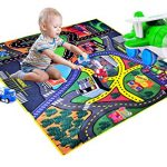 CARLORBO-4-Play-Vehicles-with-Large-Playmat-Set-Die-Cast-Pull-Back-and-Friction-Powered-Toys-with-a-5939in-My-Town-Play-MatBest-Christmas-Gift-Toddler-Toys-for-2-year-old-Boys-Girls-0-1