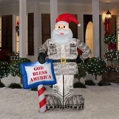 Military Ball Decorations: CHRISTMAS DECORATION LAWN YARD INFLATABLE AIRBLOWN