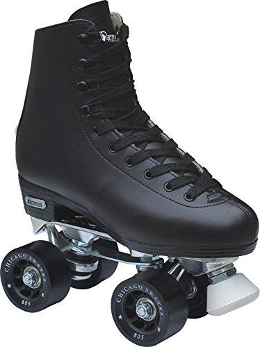 Chicago-Mens-Leather-Lined-Rink-Skate-Size-10-BLACK-0