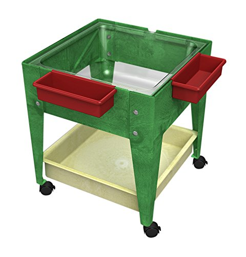 Childbrite-24-Sx-Tra-Deep-Clear-Tub-and-4-Casters-Green-Frame-Mobile-Mite-0