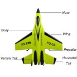 Children-Toy-Deklong-FX-823-24G-2CH-RC-Airplane-Glider-Remote-Control-Plane-Outdoor-Aircraft-Adult-Toy-0-2
