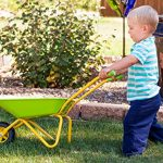 Childrens-Green-Metal-Wheelbarrow-Tools-KneePad-0-0