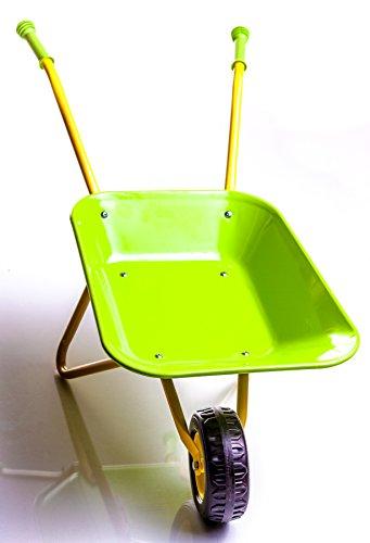 Childrens-Green-Metal-Wheelbarrow-Tools-KneePad-0-1