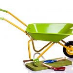 Childrens-Green-Metal-Wheelbarrow-Tools-KneePad-0