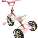Childrens-PinkWhite-Tricycle-0