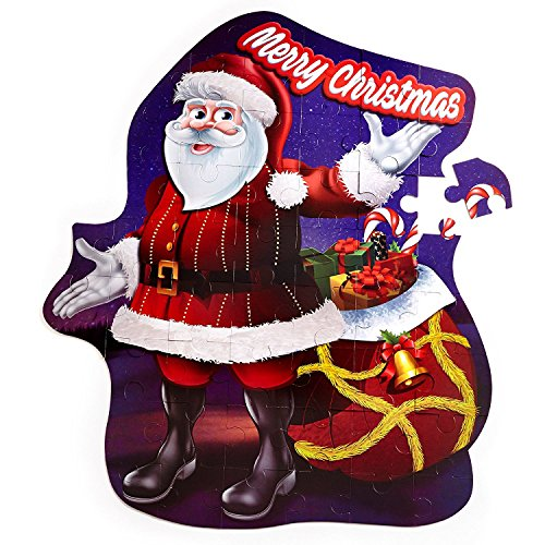 Christmas-Floor-Jigsaw-Puzzle-Bundle-for-Kids-Ages-4-8-Large-Santa-and-Large-Christmas-Tree-Puzzle-W29pc-Ornaments-Decoration-kit-Free-Gift-Spill-Resistant-Bubble-Tumbler-0-0