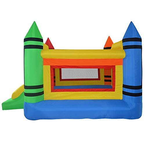 Cloud-9-Mini-Crayon-Bounce-House-Inflatable-Bouncing-Jumper-with-Blower-0-0