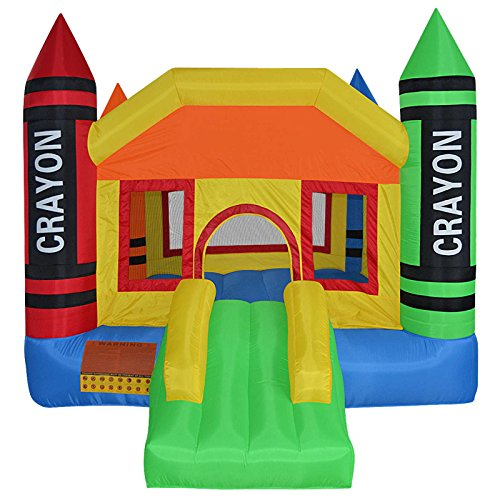 Cloud-9-Mini-Crayon-Bounce-House-Inflatable-Bouncing-Jumper-with-Blower-0-1