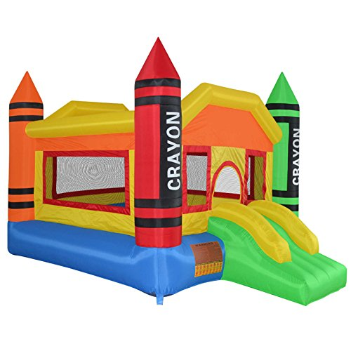 Cloud-9-Mini-Crayon-Bounce-House-Inflatable-Bouncing-Jumper-with-Blower-0