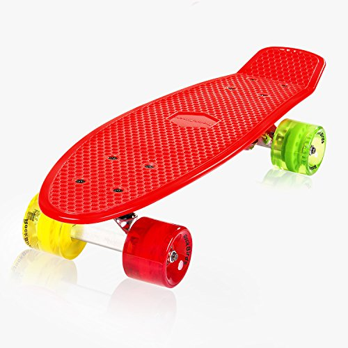 Complete-Skateboards-RockBirds-22-Plastic-Cruiser-Skateboard-High-Speed-for-Kids-Boys-Youths-Beginners-Red-0-0