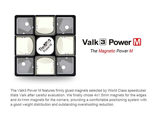 Coogam-Qiyi-Valk-3-Power-Magnetic-Speed-Cube-3×3-Black-The-Valk3-M-Puzzle-Cube-0-2