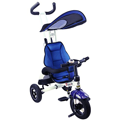 Costzon-4-In-1-Baby-Tricycle-Detachable-Learning-Bike-w-Canopy-Bag-Kids-Steer-Stroller-0