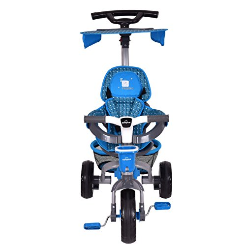 Costzon-4-In-1-Baby-Tricycle-Steer-Stroller-Detachable-Learning-Bike-w-Canopy-Basket-0-1