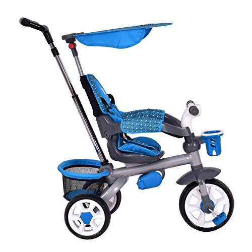 Costzon-4-In-1-Baby-Tricycle-Steer-Stroller-Detachable-Learning-Bike-w-Canopy-Basket-0-2