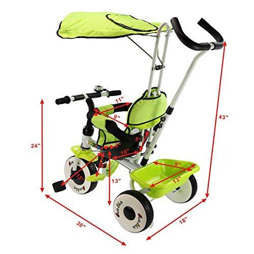 Costzon-4-In-1-Kids-Steer-Tricycle-Stroller-Bike-w-Canopy-Basket-0-0