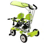 Costzon-4-In-1-Twins-Kids-Trike-Baby-Toddler-Tricycle-Safety-Double-Rotatable-Seat-w-Basket-0-1