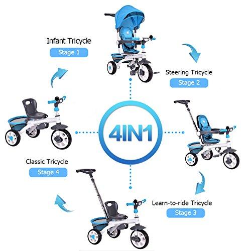 Costzon-4-in-1-Kids-Tricycle-Steer-Stroller-Toy-Bike-w-Canopy-Basket-0-0