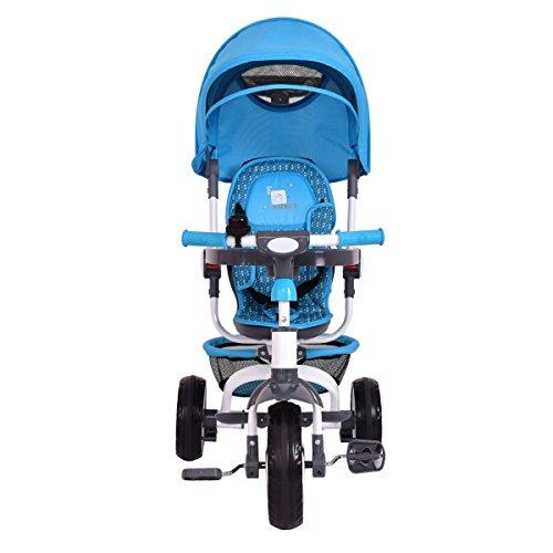 Costzon-4-in-1-Kids-Tricycle-Steer-Stroller-Toy-Bike-w-Canopy-Basket-0-1