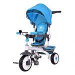 Costzon-4-in-1-Kids-Tricycle-Steer-Stroller-Toy-Bike-w-Canopy-Basket-0