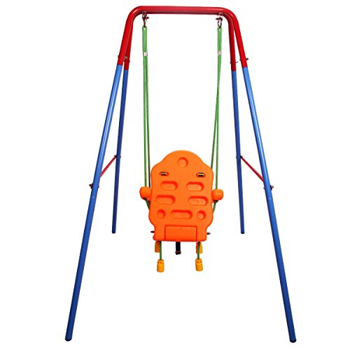 Costzon-Toddler-Swing-Seat-High-Back-A-Frame-Outdoor-Swing-Chair-Metal-Swing-Set-for-Backyard-0-1