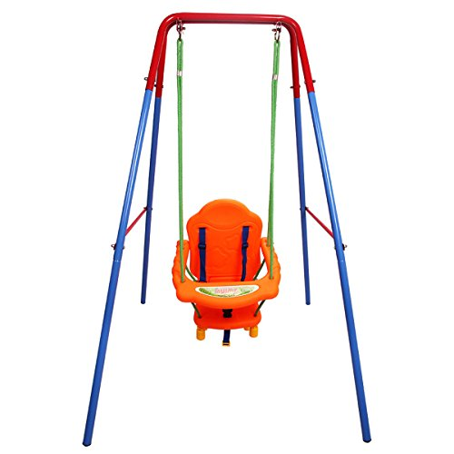 Costzon Toddler Swing Seat High Back, A-Frame Outdoor