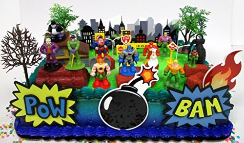 DC Comic Super Friends Birthday Cake Topper Set