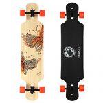 DGWBT-Bamboo-Maple-41-inch-Drop-Through-Longboard-Skateboard-Complete-0