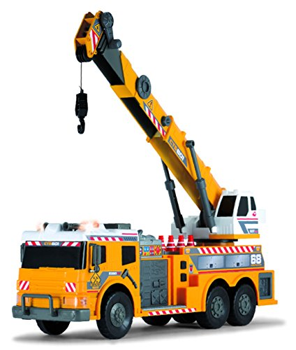 Dickie Toys 24 Light And Sound Construction Crane Truck