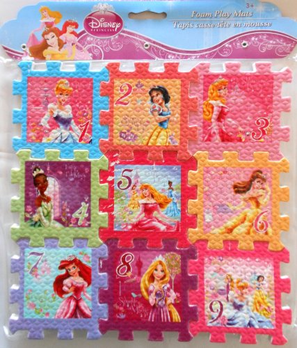Disney Princess Foam Play Mat 9 X9 Puzzle Hobby Leisure