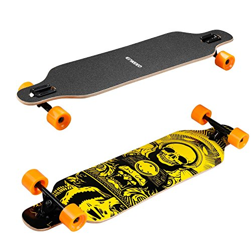 ENKEEO-41-Inch-Drop-Through-Longboard-Skateboard-Complete-for-Carving-Downhill-Cruising-Freestyle-Riding-0-0