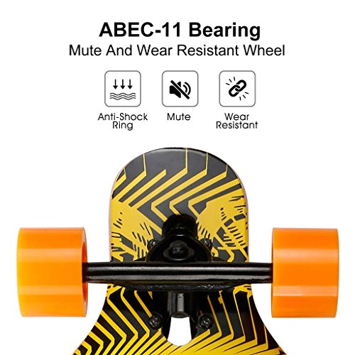 ENKEEO-41-Inch-Drop-Through-Longboard-Skateboard-Complete-for-Carving-Downhill-Cruising-Freestyle-Riding-0-2