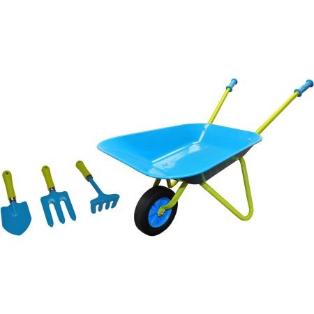 Pack 3 g f 10041 justforkids kids wheel barrel and for Gardening tools for 6 year old