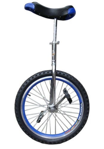 Fantasycart-24-Unicycle-Cycling-In-Out-Door-Chrome-Blue-with-skidproof-tire-0