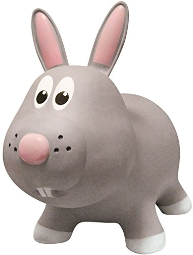 Farm-Hoppers-Award-Winning-Inflatable-Bouncing-Grey-Rabbit-with-Pump-0-0