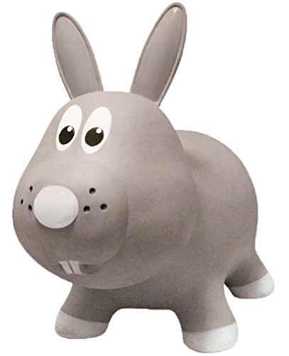 Farm-Hoppers-Award-Winning-Inflatable-Bouncing-Grey-Rabbit-with-Pump-0