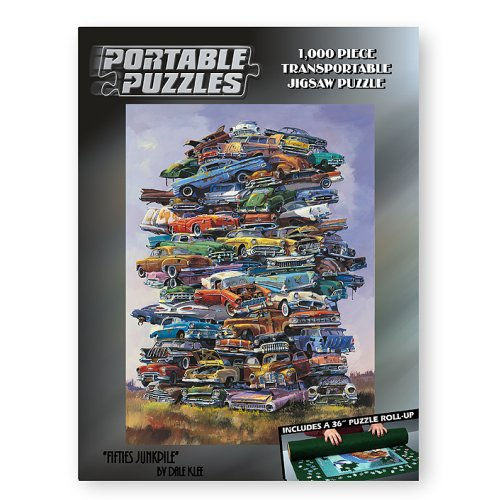 Fifties-Junkpile-1000-Piece-Car-Portable-Puzzle-with-Mat-0