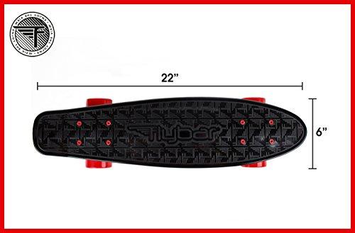 Flybar-22-Inch-Complete-Plastic-Cruiser-Skateboard-Custom-Non-Slip-Deck-Multiple-Colors-0-0