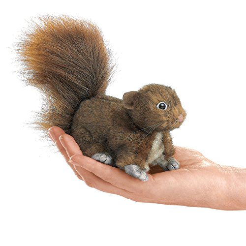 Folkmanis-Mini-Woodland-Creatures-Finger-Puppets-Bundle-Red-Squirrel-Field-Mouse-Raccoon-Lop-Earred-Rabbit-0-0