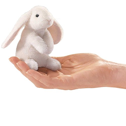 Folkmanis-Mini-Woodland-Creatures-Finger-Puppets-Bundle-Red-Squirrel-Field-Mouse-Raccoon-Lop-Earred-Rabbit-0-2