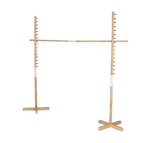 Get-Out-Wooden-Limbo-Set-5-Feet-Tall–Colored-Limbo-Stick-with-Self-Standing-Base–Fun-for-All-Ages-and-Occasions-0
