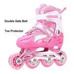 Girls-Inline-Skates-Adjustable-Rollerblades-for-Kids-Girls-Illuminating-Wheel-the-Premium-Breathable-Mesh-Roller-Skates-Double-Secure-Lock-0-0